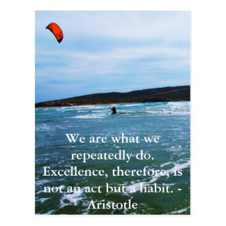 Aristotle Excellence Quotation Post Cards