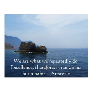Aristotle Excellence Quotation Postcard