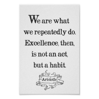 Aristotle 'Excellence' quote motivational poster