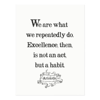 Aristotle 'Excellence' quote postcard
