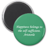 Aristotle Happiness Quote Magnet