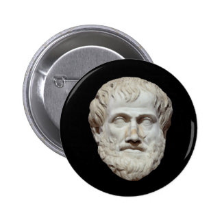 Aristotle Head Sculpture 6 Cm Round Badge