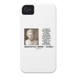 Aristotle Liberty Equality Democracy Share In Govt iPhone 4 Case