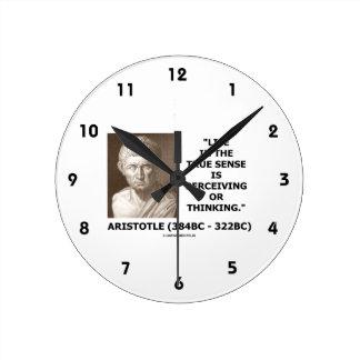 Aristotle Life True Sense Perceiving Or Thinking Wallclocks