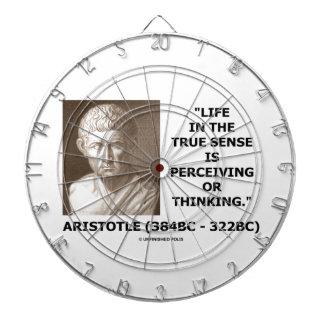 Aristotle Life True Sense Perceiving Or Thinking Dartboard