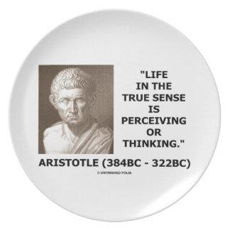 Aristotle Life True Sense Perceiving Or Thinking Dinner Plate