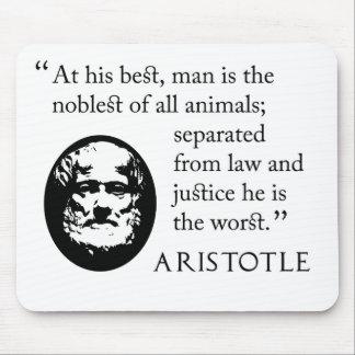 Aristotle mousepad - man, noblest of animals