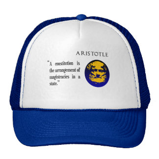 Aristotle on constitution cap trucker hat