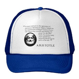 Aristotle on tyrants. Baseball cap Trucker Hat