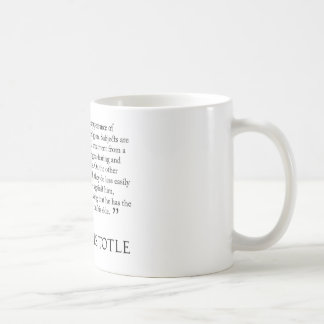 Aristotle on tyrants. Quotation mug