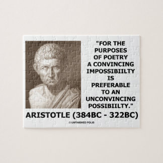 Aristotle Poetry Convincing Impossibility Quote Jigsaw Puzzle