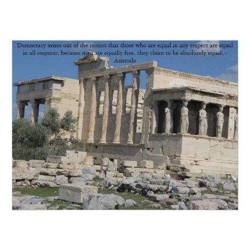 Aristotle quotation with photo of the Acropolis Posters