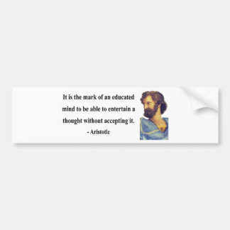 Aristotle Quote 1b Bumper Sticker