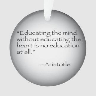 Aristotle Quote Ornament