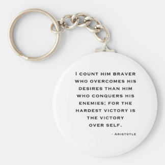 Aristotle - Victory over self Key Ring