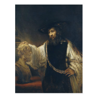 Aristotle With A Bust Of Homer by Rembrandt Postcard