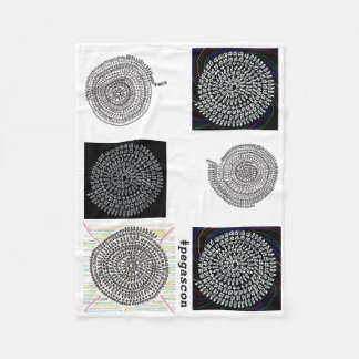 Arithmetic Mandara blanket of white ground and
