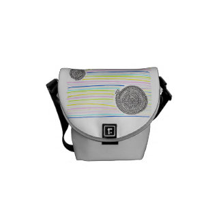 Arithmetic Mandara who has the rainbow Commuter Bag