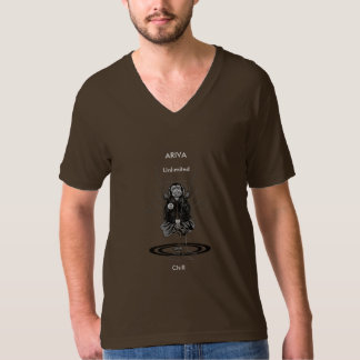 ARIVA Unlimited Chill (brown) V-Neck T-Shirt