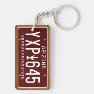 Arizona 1980 Vintage License Plate Keychain