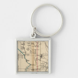 Arizona 2 Silver-Colored square key ring