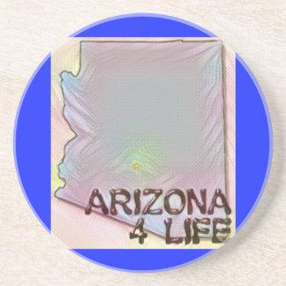 """Arizona 4 Life"" State Map Pride Design Coaster"