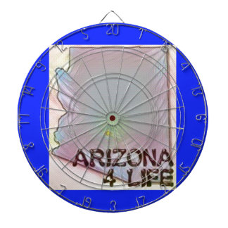 """Arizona 4 Life"" State Map Pride Design Dartboard"