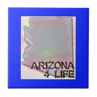 """Arizona 4 Life"" State Map Pride Design Tile"