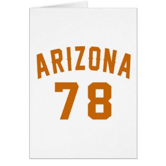 Arizona 78 Birthday Designs Card