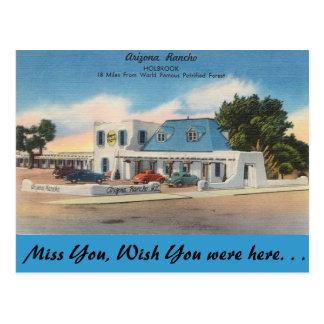 Arizona, Arizona Rancho Postcard