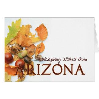 Arizona autumn leaves thanksgiving card