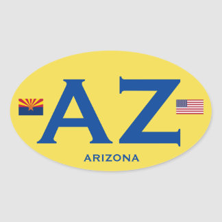 Arizona (AZ) Euro-Style Oval Sticker