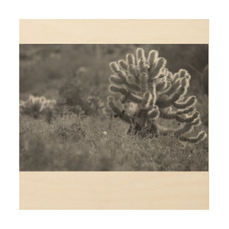 Arizona Cholla Cactus Wood Wall Decor