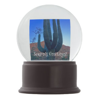 Arizona Christmas Cactus Snow Globe