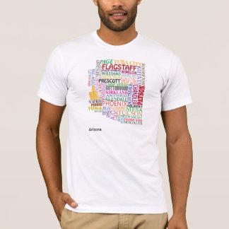 Arizona City Map T-Shirt