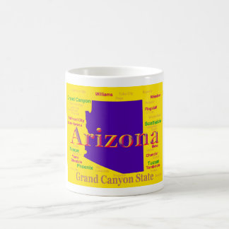 Arizona Colorful Map, Grand Canyon State Coffee Mug
