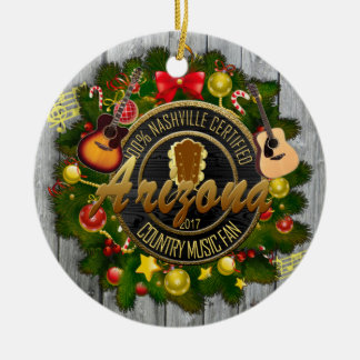 Arizona Country Music Fan Christmas Ornament