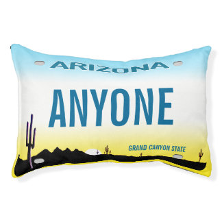 Arizona Custom License Plate Pet Bed