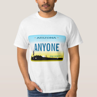 Arizona Custom License Plate T-Shirt