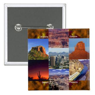 Arizona Desert Collage Pins