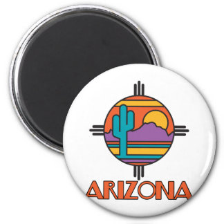 Arizona Desert Mandala 6 Cm Round Magnet