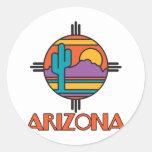 Arizona Desert Mandala Round Stickers