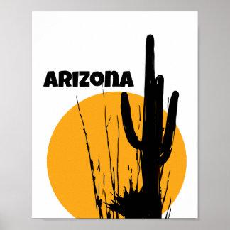 Arizona Desert Plants Silhouette | Poster