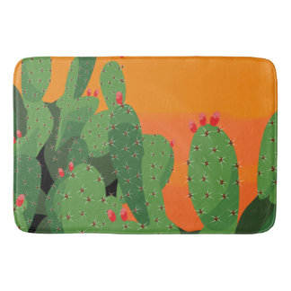 Arizona Desert Prickly Pear Bath Mat Bath Mats