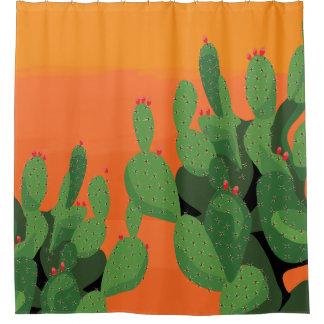 Arizona Desert Prickly Pear Floral Shower Curtain