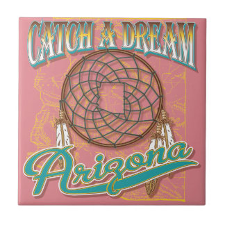 Arizona Dream Catcher Small Square Tile
