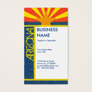 arizona flag business card