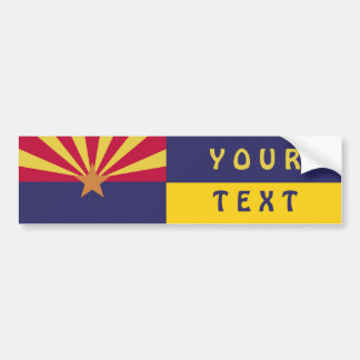 Arizona Flag: Create Your Own Bumper Sticker