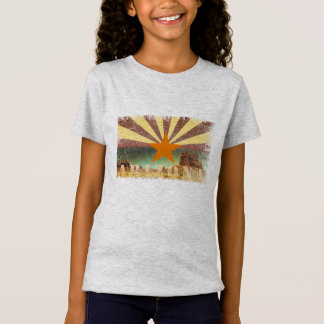 Arizona Flag Grand Canyon Distressed Art T-Shirt