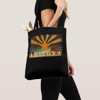 Arizona Flag Grand Canyon Distressed Art Tote Bag